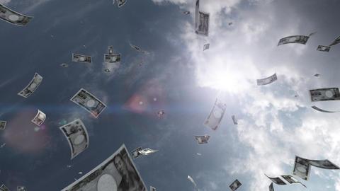 Money falling Aa6 yen HD Stock Video Footage