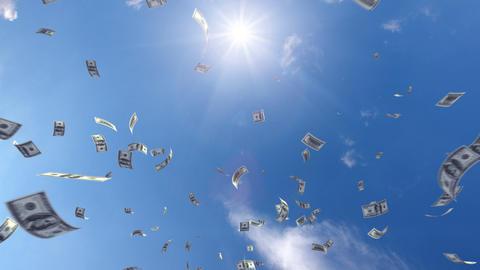 Money falling Ga7 dollar HD Stock Video Footage