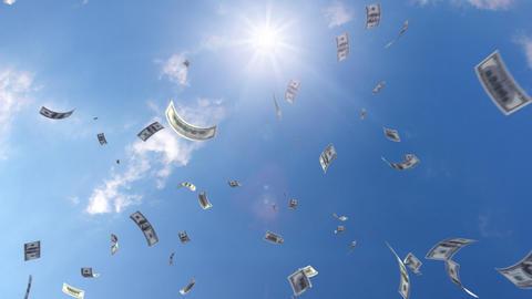 Money falling Ga7 dollar HD Animation