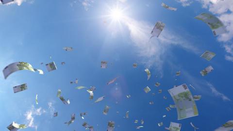 Money falling Ga7 euro HD Stock Video Footage