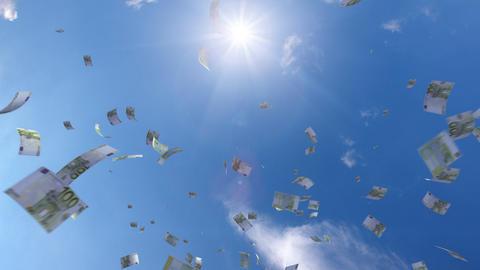 Money falling Ga7 euro HD Animation