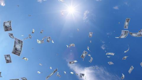 Money falling Ga7 yen HD Stock Video Footage