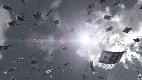 SkyScrayper Ab7 dollar HD Stock Video Footage