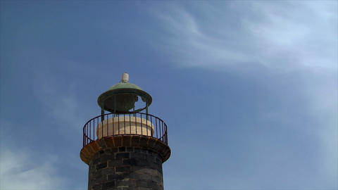 old rusty lighthouse timelapse Stock Video Footage