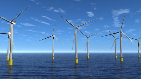 Windfarm Flyby Animation HD Animation
