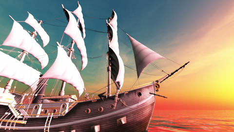 Sailing Boat Animation