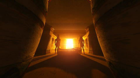 egyptian tombs Stock Video Footage