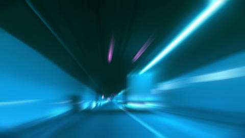 tunnel abstract speed 11 Stock Video Footage