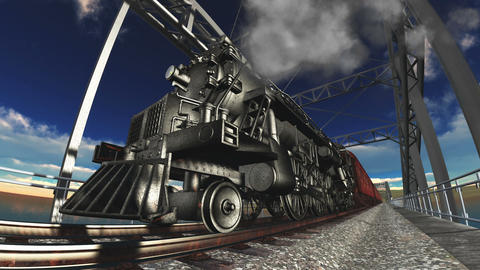 steam locomotive Animation