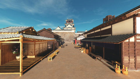 Japanese castle Animation