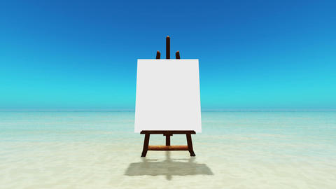 The Canvas Of The Beach stock footage