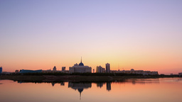 Presidential Palace on the waterfront. Astana, Kaz Footage