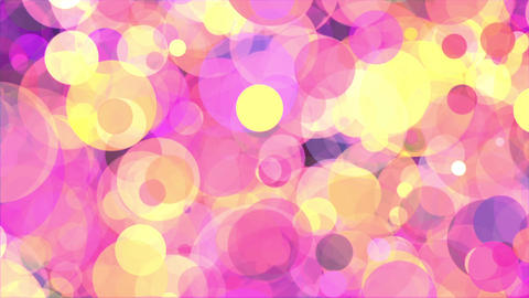 Circles pink yellow abstract background loop Animation