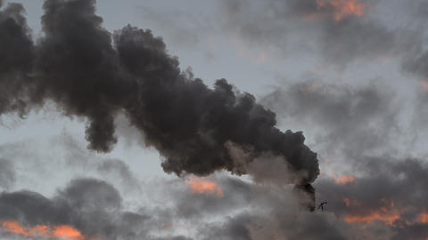 Smoke Stack Global Warming stock footage