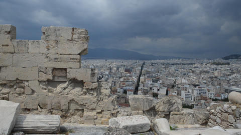 Panoramic View Of Athens, Greece, From The Acropol stock footage