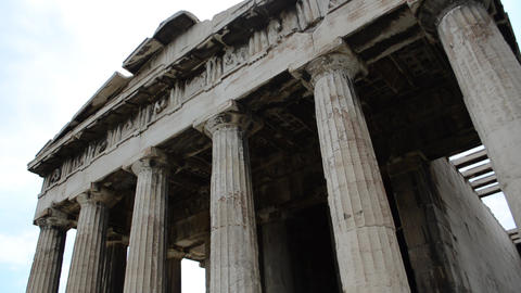 Temple of Hephaestus from the Acropolis, Athens, G Footage