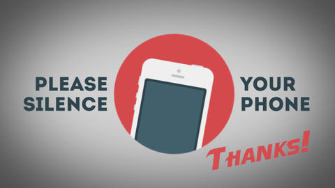 Please Silence Your Cell Phone stock footage