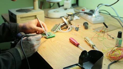 Job soldering Footage