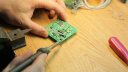 Job soldering , close up Footage