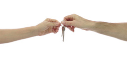Giving Away The Keys stock footage