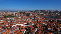 View from Clerigos Tower in Porto Footage