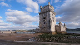 Tower of Belem in Lisbon Footage