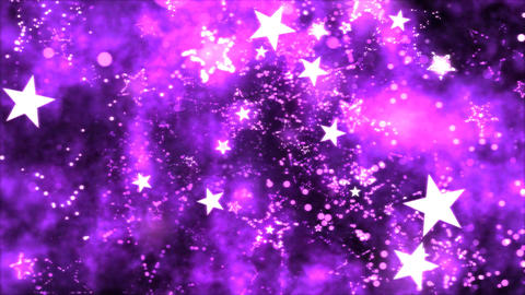 Abstract Star Shapes, Space - Loop Purple Animation