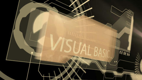 Digital interface with business words Animation