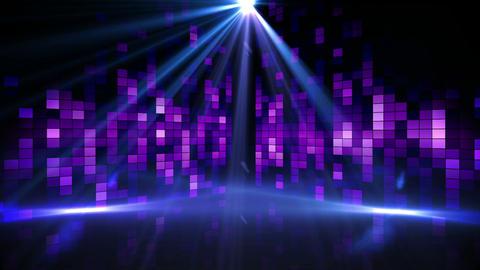 Purple music pixel design with lights Animation