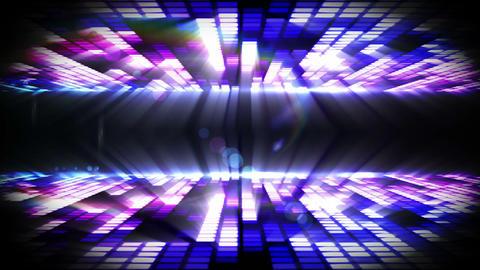 Purple mosaic nightlife design on black Animation