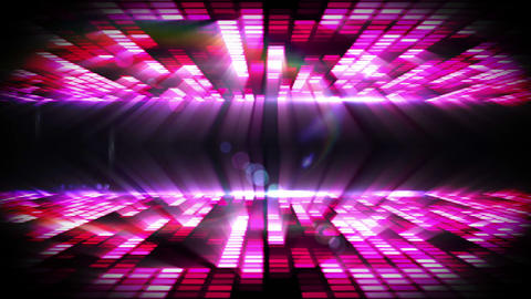 Pink mosaic nightlife design on black Animation