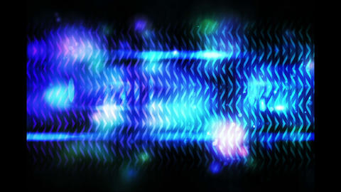 Blue abstract glowing design on black Animation