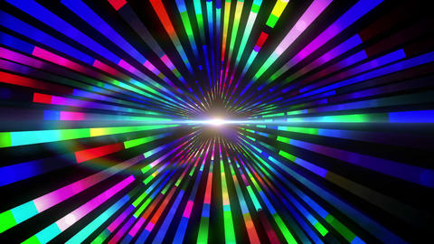 Colourful vortex design with lights Animation