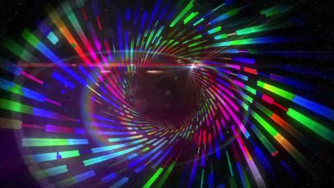 Vortex pattern with glowing lights Animation