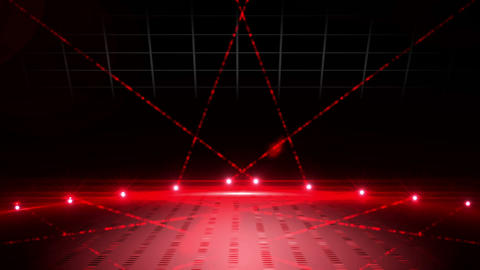 Red laser show on black background Animation
