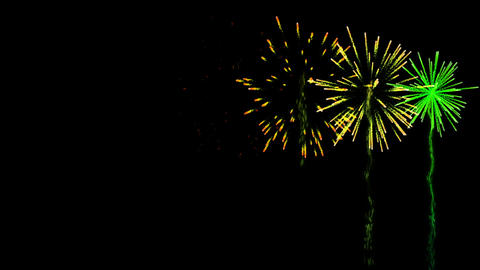 Colourful fireworks exploding on black background Animation