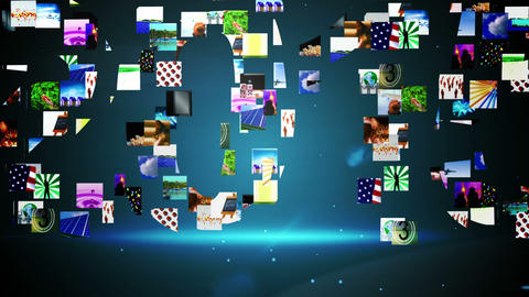 Video clips forming 2015 message Animation