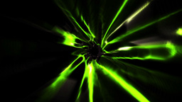 Green vortex design on black Animation