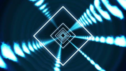 Square vortex design on black Animation