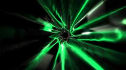 Colourful vortex design on black Animation