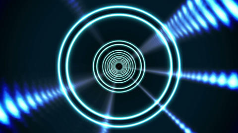 Circle blue vortex design on black Animation