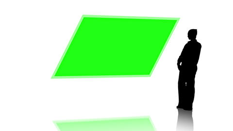 Silhouette of businesswoman presenting chroma key Animation