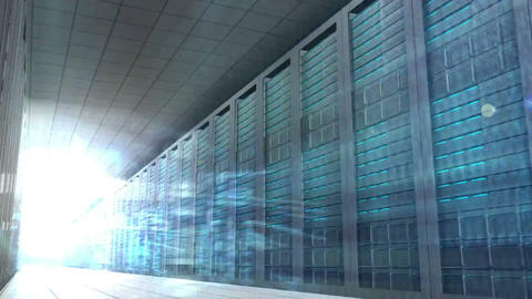 Computing language in server room Animation
