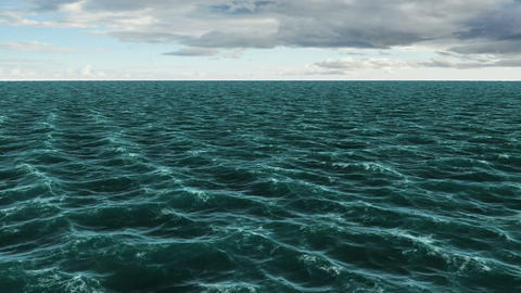 Digitally generated blue ocean moving Animation