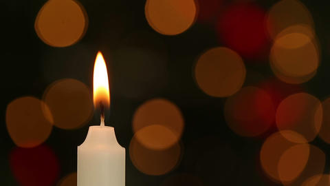 Candle flickering and going out Footage