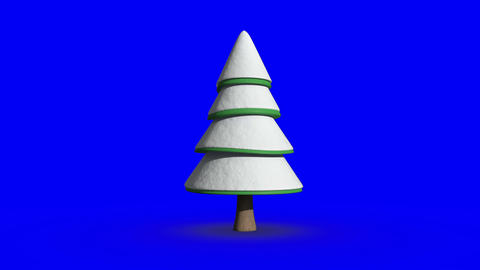 Fir tree revolving against copy space background Animation