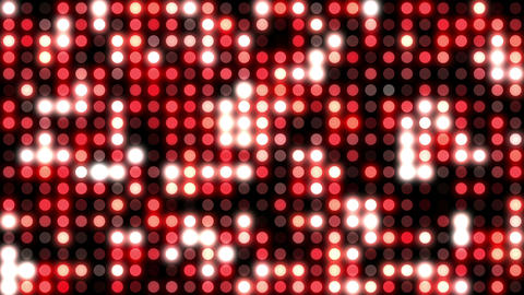 Red mosaic wall of light Animation