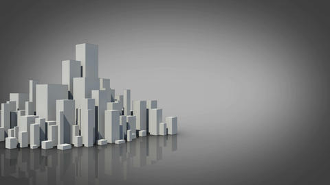 Grey city appearing with copy space Animation