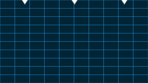 Arrows pointing down against grid background Animation