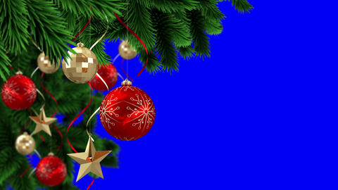 Seamless christmas scene with copy space Animation